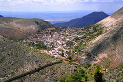 Real de catorce aerial. Aerial view of real de catorce, in san luis potosi, mexico Stock Photo