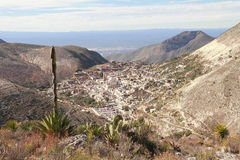 Real de catorce II. Aerial view of the touristy town of Real de Catorce located in the mexican state of San Luis Potosi Stock Photography