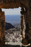 Real de catorce IV. Aerial view of the touristy town of Real de Catorce located in the mexican state of San Luis Potosi Stock Photo