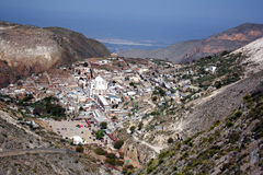 Real de Catorce Landscape. An aerial view of the famous Mexican town Real de Catorce. Taken in the spring at the state of San Luis Potosi, Mexico Royalty Free Stock Images