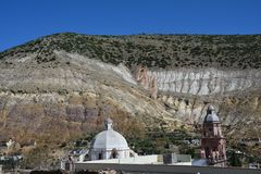 Real de Catorce Pueblo Magico nahe San Luis Potosi Mexiko lizenzfreie stockbilder