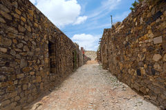 Real de Catorce streetscape. Streetscape in the abandoned silver mining town Real de Catorce Royalty Free Stock Image