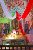 Real de catorce XI. Altar of the church of Real de Catorce located in the mexican state of San Luis Potosi Stock Photo