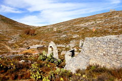 Real de catorce XIV. Ruins as part of the ancient town of Real de Catorce located in the mexican state of San Luis Potosi Stock Photography