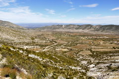 Real de catorce XIX. Landscape near the town of Real de Catorce located in the mexican state of San Luis Potosi Stock Images