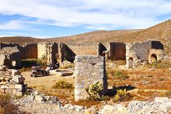 Real de catorce XV. Ruins as part of the ancient town of Real de Catorce located in the mexican state of San Luis Potosi Stock Images