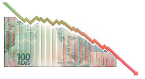 Real declining Graph bill Stock Image