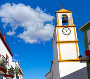 Real del Jara Via de la Plata way Clock tower Stock Photography
