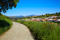 Real del Jara by Via de la Plata way in Spain Royalty Free Stock Image