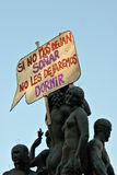 Real democracy now, Barcelona, Spain Stock Photo