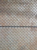 Real diamond plate steel background Royalty Free Stock Photography
