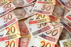 Real - dinheiro brasileiro Imagem de Stock Royalty Free