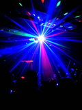 Real disco light flare with people Royalty Free Stock Photo