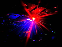 Real disco light flare with people Stock Photography