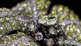 Yellow diamond ring no 3D, it`s video shooting only. stock footage