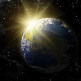 Real Earth Planet Stock Photo