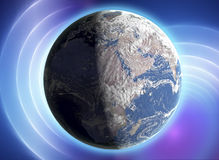 Real Earth Planet in space Stock Images