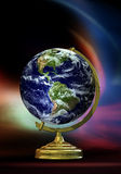 Real Eartn Globe. A traditional Globe with a real world Royalty Free Stock Photos