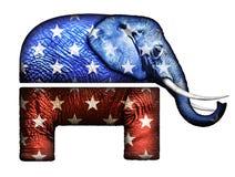Real Elephant Republican Symbol stock illustration