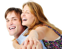 Real emotion couple Stock Image