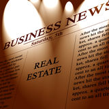 Real estate. In the paper with a spotlight on it Royalty Free Stock Photo
