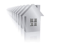 Real estate. Illustration of single-family homes Stock Images