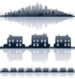 Real estate. Home and cityscape background, real estate Stock Photo