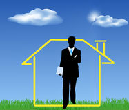Real estate. Insurance - a good kind of business Royalty Free Stock Images