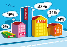 Real Estate. Bar Graph (Vector Illustration Stock Images