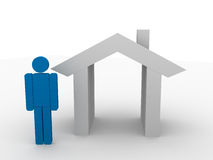Real estate. Image of a real estate, insurance Royalty Free Stock Photo