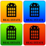 Real estate. Colorful icons for real estate agencies or information sites Stock Photography