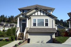 Real Estate. New home built in Chilliwack, British Columbia Royalty Free Stock Photography