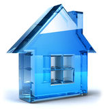 Real estate. Concept house, 3d generated picture Royalty Free Stock Image