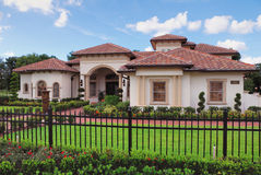 Real Estate. Upscale home in Central Florida with blue sky Stock Photo