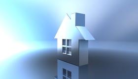 Real estate. Beautiful chromium house Royalty Free Stock Photos