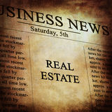Real estate. In the news paper Royalty Free Stock Photography