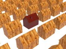 Real Estate. Conceptual real estate 3D image Royalty Free Stock Photos