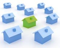Real Estate. Conceptual real estate 3D image Stock Photos