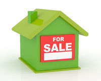 Real Estate. Conceptual real estate 3D image Stock Image