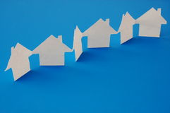 Real estate. Paper houses or homes showing a concept for real estate Royalty Free Stock Images