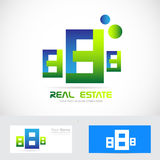 Real estate abstract buildings logo icon Stock Images