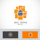 Real estate abstract house concept logo Stock Photography