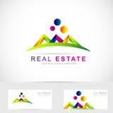 Real estate abstract logo Royalty Free Stock Image
