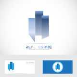 Real estate abstract shape logo Stock Photography