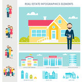 Real Estate, Accommodation and Renting Infographics Elements. Real Estate, Accommodation and Renting Vector Infographics Elements Royalty Free Stock Photography