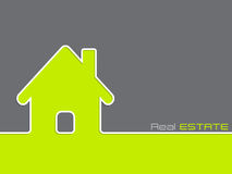 Real estate advertising background Royalty Free Stock Image