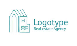 Real estate Agency logo. Logo template real estate, apartment, condo, house, rental, business. brand, branding, logotype company corporate identity Clean modern Royalty Free Stock Photography