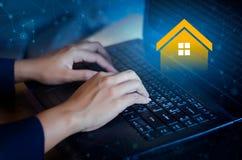 Real estate agency online keyboard Real Estate computer. Real estate agency online keyboard Real  Estate computer Royalty Free Stock Photo