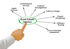 Real estate agency Stock Image
