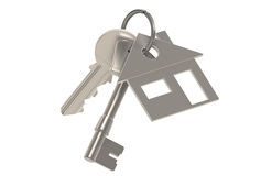 Real Estate Agent. Keys with a House Key Ring. Real Estate Agent Royalty Free Stock Images